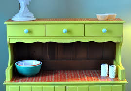 guest post colorful vintage hutch stylish patina