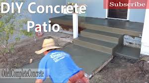 How To Install A Concrete Patio How To Pour A Concrete Patio Youtube
