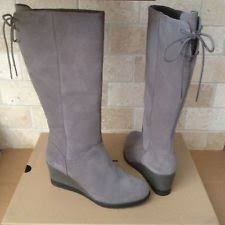 womens ugg leona boots ugg australia zip wedge knee high boots for ebay