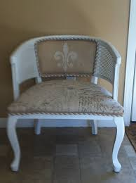 vintage french cane back barrel chair love the twisted braid