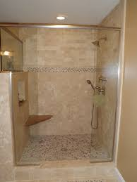 Bath Shower Remodel Watsonville Bathroom Remodel Project Large Tumbled Travertine