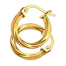 gold hoop earrings uk citerna women s 9 ct yellow gold hoop earrings co uk