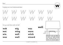 letter w phonics activities and printable teaching resources