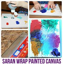saran wrap canvas art u2013 the pinterested parent