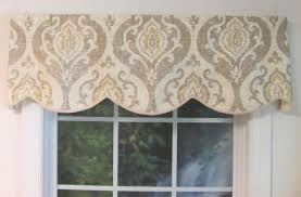 cornice style valances patterned solid colored