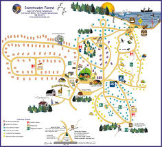 the camp map a bird u0027s eye view of sweetwater forest