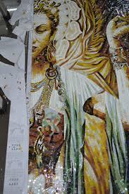 handmade religious mosaic mural jinyuan mosaic 24k fake gold jy bu9n buddhism wall mural temple wall pattern portrait photo mural