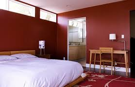 red floor paint modern japanese style bed red wool floral carpet auburn wooden