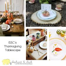 Thanksgiving Table Settings by Thanksgiving Table Settings Elephantandchick