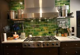 Green Backsplash Kitchen Green Kitchen Backsplash Ideas Home Design Ideas