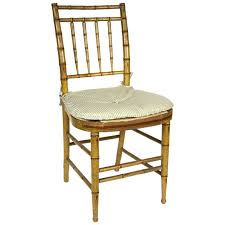 Bamboo Chair | english regency faux bamboo side chair at 1stdibs