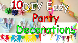 Party Decorating Ideas 10 Diy Easy Party Decorations Ideas Ana Diy Crafts Youtube