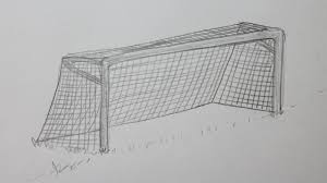 how to draw a soccer goal youtube