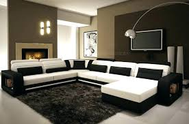 canap d angle cuir noir canape d angle blanc et noir canapac dangle noir et blanc marabella