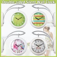 Silent Wall Clock Time Deign Double Sided Wall Clock Hang On The Wall Silent Clock