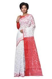 dhakai jamdani sarees soft dhakai jamdani saree adi31922