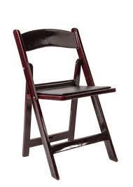 mahogany chiavari chair mahogany resin folding chair with black vinyl padded seat the