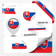 Slovak Flag Made In Slovakia Collection Of Ribbon Label Stickers Pointer