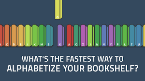 what u0027s the fastest way to alphabetize your bookshelf chand john