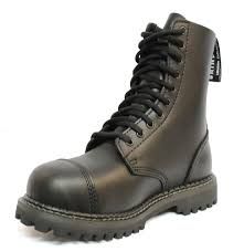 biker type boots grinders lace up biker ankle boots with steel toe style stag cs