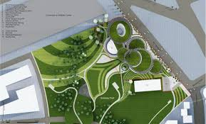 site plan design luxurious museum architecture design project plan large green
