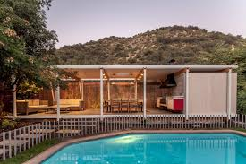 Pool With Pergola by Pergola Pavilion A Lightweight Pool House Built With Future Use