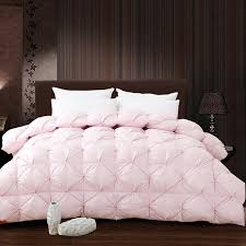 light pink twin bedding white pink grade a natural 95 goose down comforter twin queen king