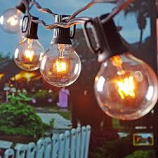 Outdoor Globe String Lighting Outdoor Globe String Lights Warm White Bulbs Black Wire Patio