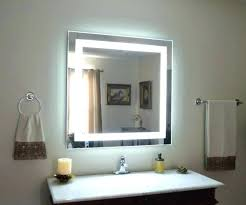 lighted mirrors for bathroom wall mounted makeup mirror with light mounted vanity mirror medium