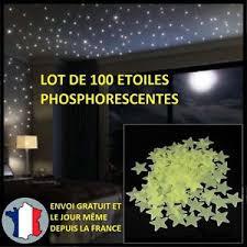 100x etoiles phosphorescentes decoration murs plafond chambre enfant