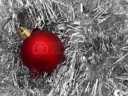 Silver Christmas Tree Baubles - glitzy gold and silver christmas baubles isolated on white stock