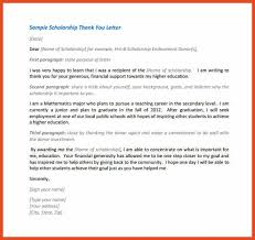 thank you scholarship letter sop format example