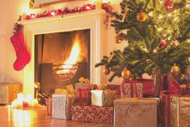 fireplace view christmas tree by the fireplace wonderful