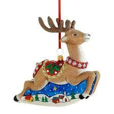 2015 reed barton classic reindeer glass blown