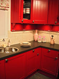 bright and eye catching red kitchen ideas custom home design