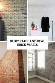 brick walls 10 diy faux and real exposed brick walls shelterness