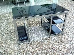bureau verre et metal bureau metal et verre mesa bureau metal verre velove me