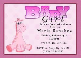 baby shower invites for girl baby shower girl invitations afoodaffair me