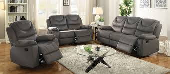 3 pcs camel breathable leatherette loveseat recliner sofa set