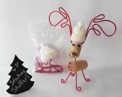 wine cork craft kit cork reindeer ornament diy
