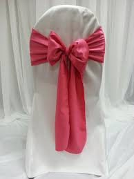 pink chair sashes watermelon majestic chair sash great events rentals