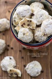 chocolate chip snowball cookies crazy for crust