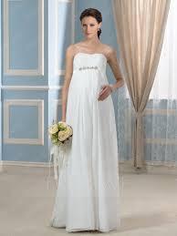 high waist wedding dress modern strapless beading high waist zipper up maternity wedding
