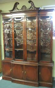 Antique Breakfront China Cabinet by October 23 2007 Auction