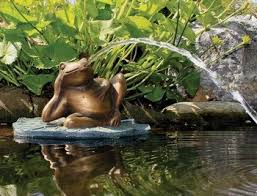 Aquascape Pond Pumps Aquascape Lazy Frog On Lily Pad Spitter W Pump U2013 Decorative Water
