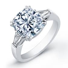 cushion engagement rings 5 00 carat center cushion cut diamond engagement ring diamond