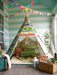 wigwam tents blending kids playroom ideas into cozy children