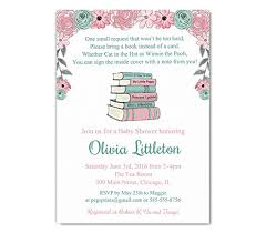 bring a book baby shower storybook baby shower invitations girl bring a book