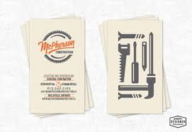 business cards milwaukee business card design for mcpherson construction located in