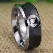 green lantern wedding ring free shipping usa uk canada russia brazil hot selling 8mm black